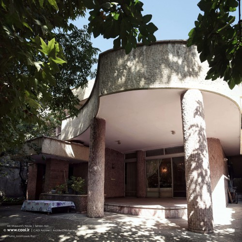 Mr Masoumi House in Zafaraniyeh 1960s Architect Mohammadreza Naderpour  1