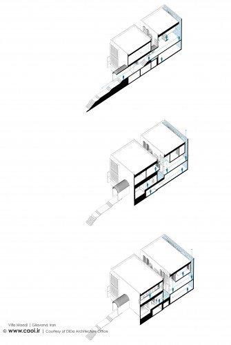 AXO Section Villa Maadi in Gilavand Iran by Dida Architecture Office  2
