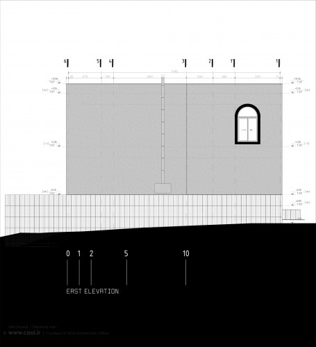 East Elevation Villa Maadi in Gilavand Iran by Dida Architecture Office