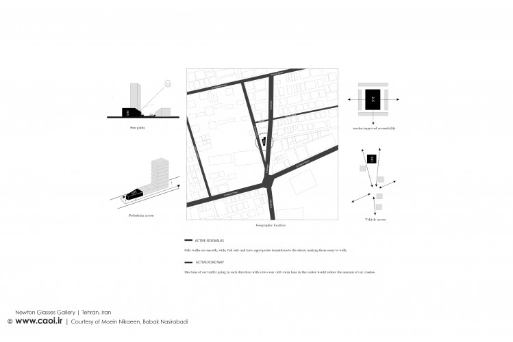 Design Process of Newton Glasses Gallery in Tehran by Moein Nikaeen and Babak Nasirabadi  2