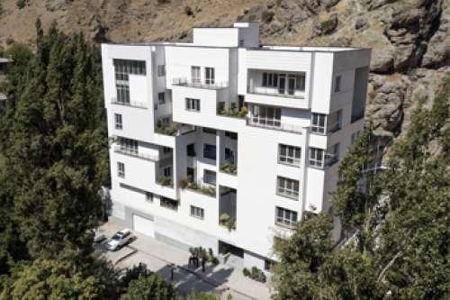 Facing sun residential building